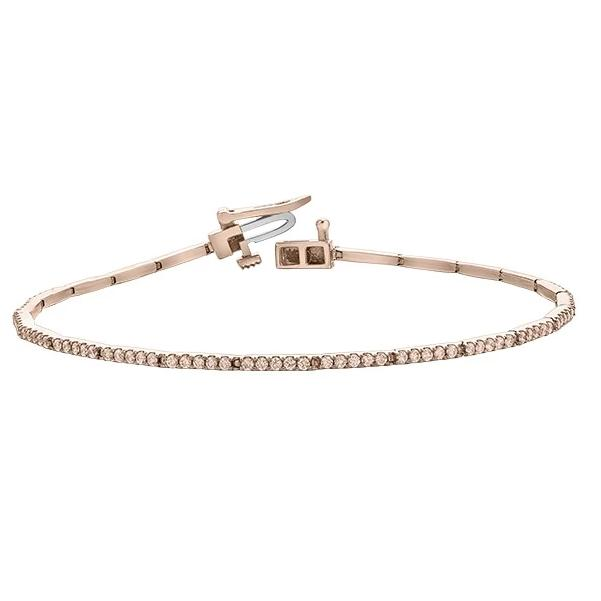 10KT ROSE GOLD 1.00CTTW  DIAMOND TENNIS BRACELET