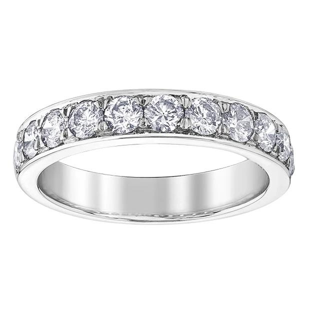 10KT WHITE GOLD 1.00CTTW CHANNEL DIAMOND BAND