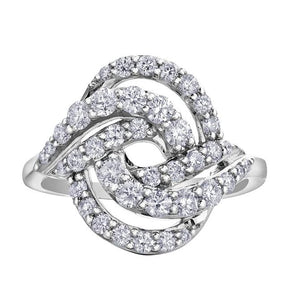 10KT WHITE GOLD 1.00CTTW PAVE OPEN DIAMOND RING