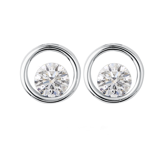 14kt White Gold 1.00cttw Canadian Diamond Stud Earrings