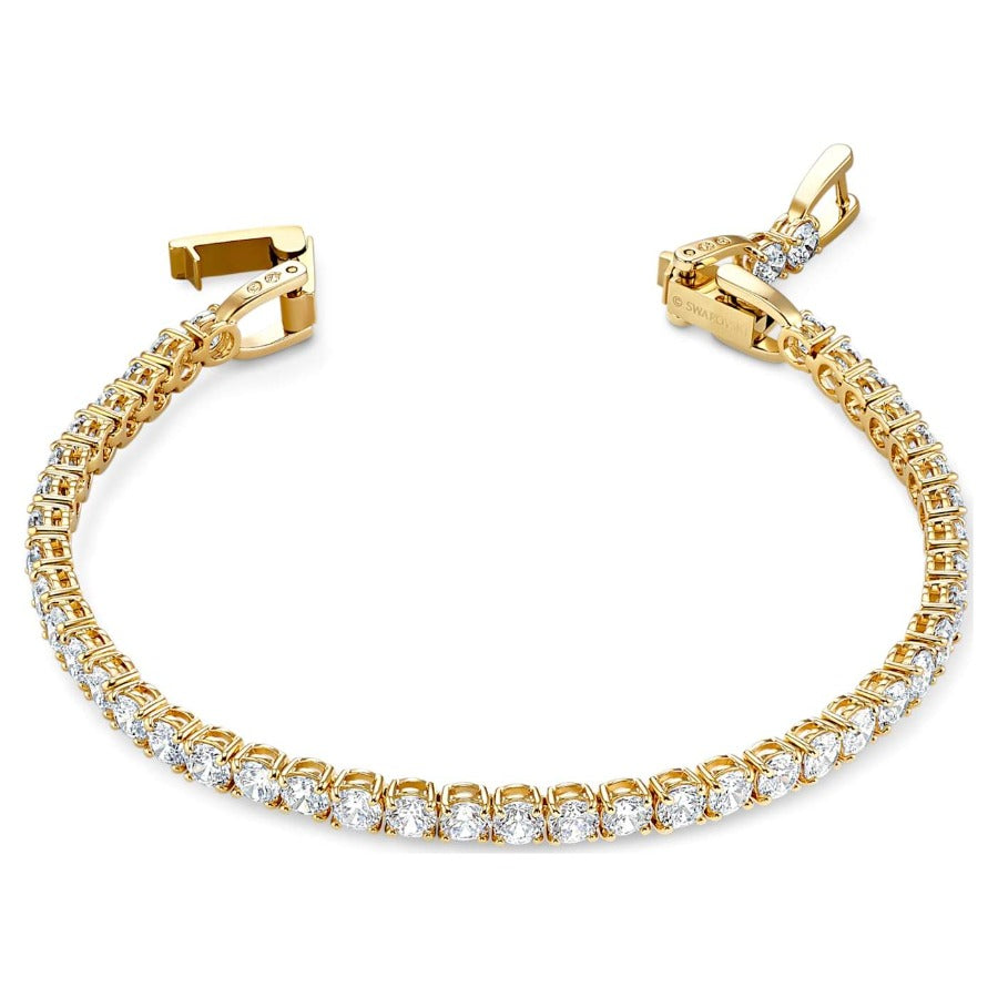 Swarovski Tennis Deluxe Bracelet, White, Gold-Toned Plated