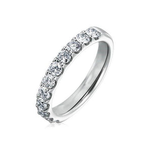 10KT WHITE GOLD 0.50CTTW DIAMOND WEDDING BAND