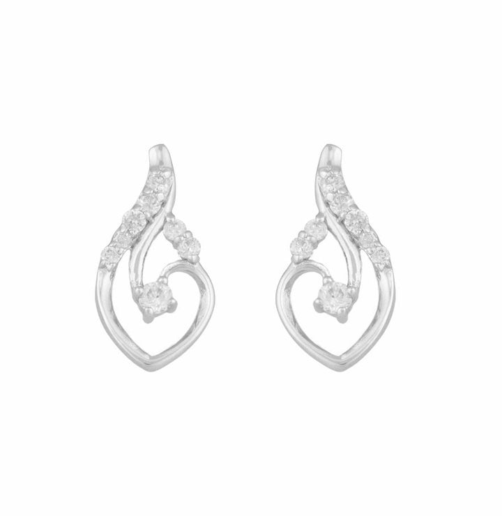 10KT WHITE GOLD 0.10CTTW DIAMOND EARRINGS