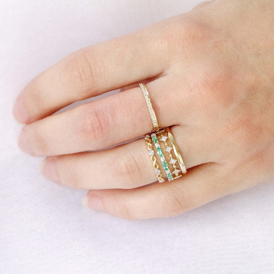 10KT YELLOW GOLD STACKABLE RING