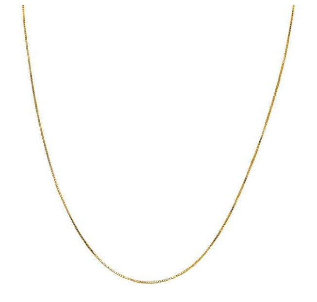 10kt Yellow Gold 0.70mm Box Chain