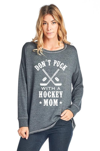 Hockey Mom Graphic Top
