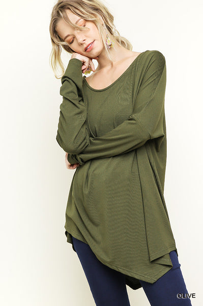 Loose Fit Asymmetric Top - Charcoal