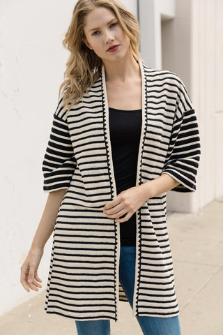Ebony and Ivory Cardigan