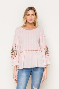 Sweet Pea Embroidered Top