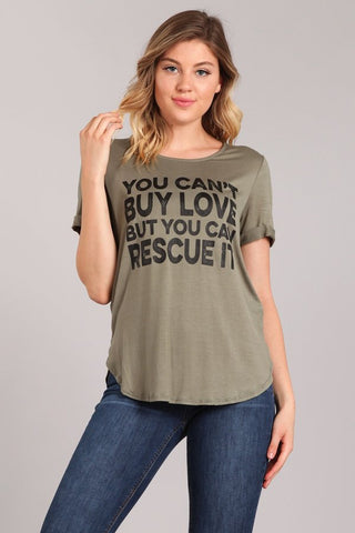Curvy Rescue Love Graphic Tee