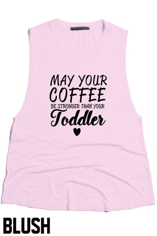 Toddler Mom Life Sleeveless Graphic Tee