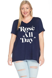 Curvy Rosé All Day Tee