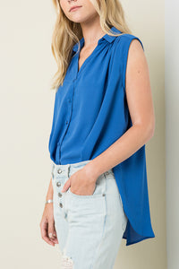 Sleeveless Fly Away Blouse - Multiple Colors Available
