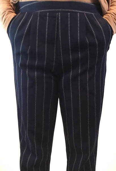 Capone Cropped Pants - Navy