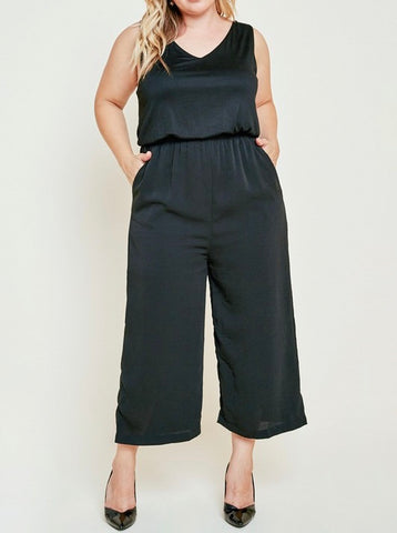 Curvy Little Black Jumpsuit