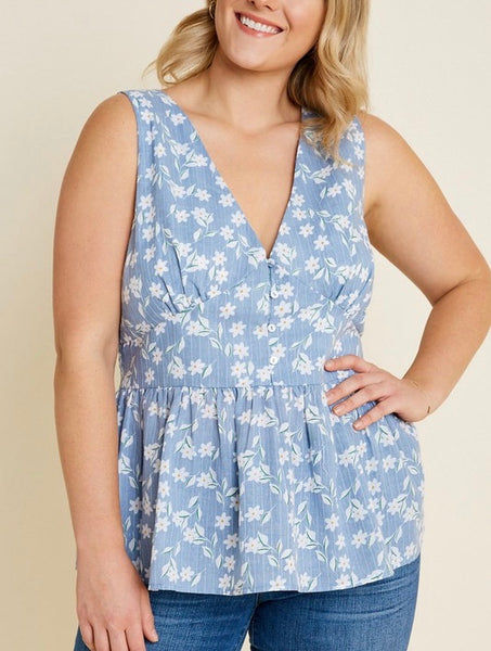 Curvy Flirty Floral Top