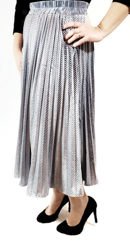 Clara Skirt - Blue Gray