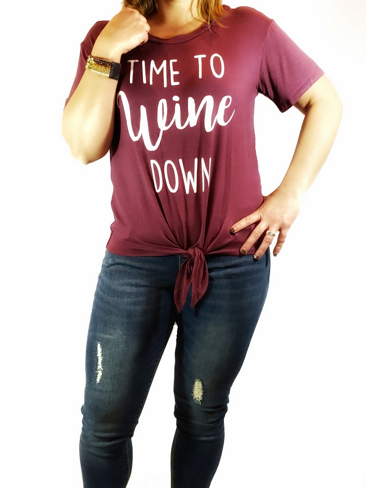 Time to Wine Down Graphic Tee - Multiple Colors Available
