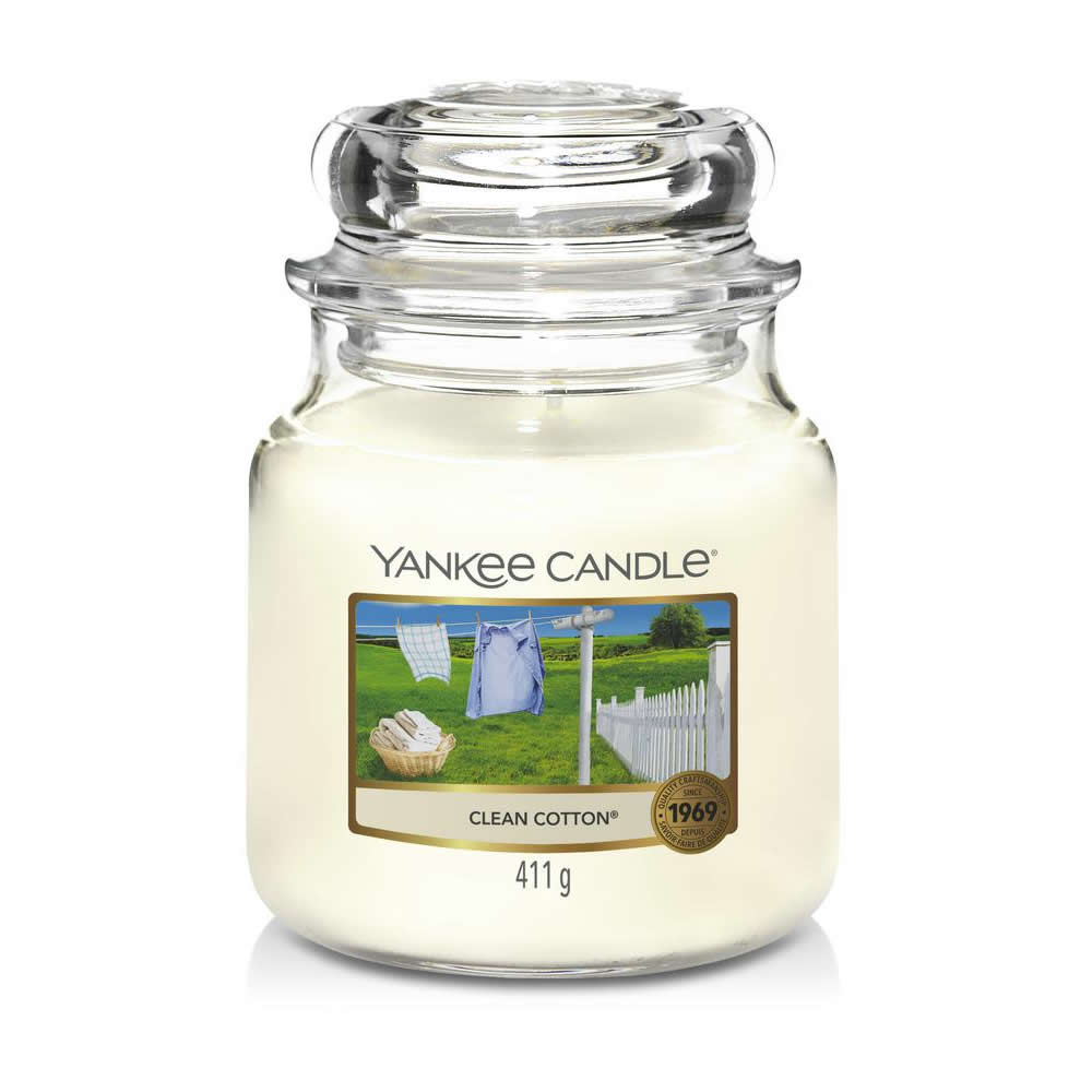 Yankee Candle Clean Cotton Medium Jar - TOSYS Candles and Gifts
