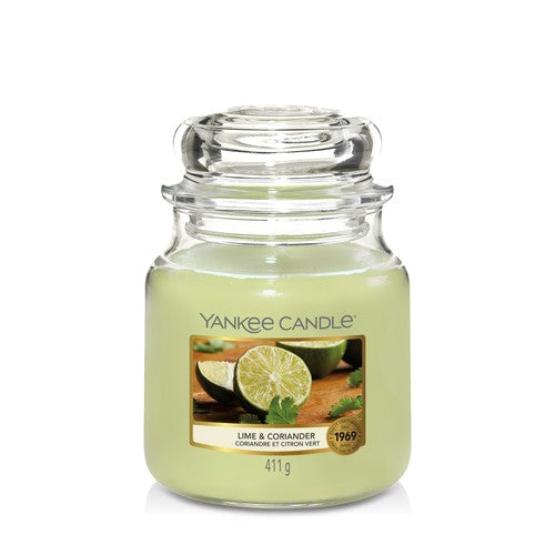 Yankee Candle Lime & Coriander Medium Jar - TOSYS Candles and Gifts