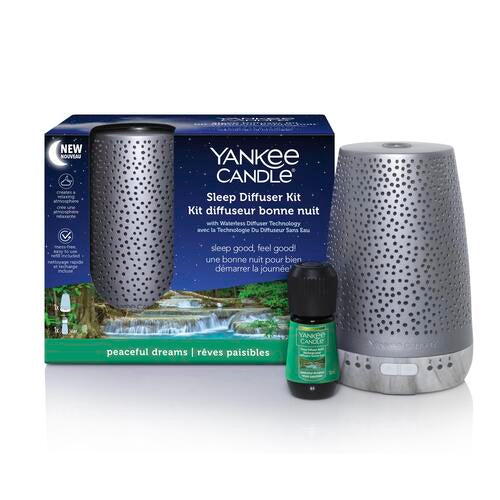 Yankee Candle Silver Starter Kit & Peaceful Dreams - TOSYS Candles and Gifts