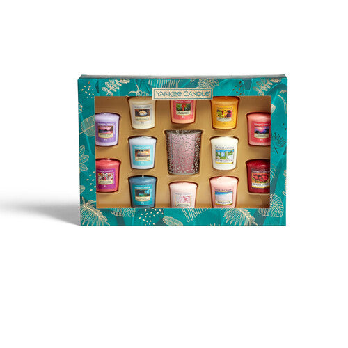 Yankee Candle The Last Paradise 12 Votive 1 Holder Gift Set - TOSYS Candles and Gifts
