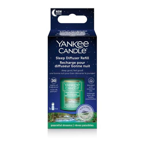 Yankee Candle Peaceful Dreams Sleep Diffuser Refill - TOSYS Candles and Gifts