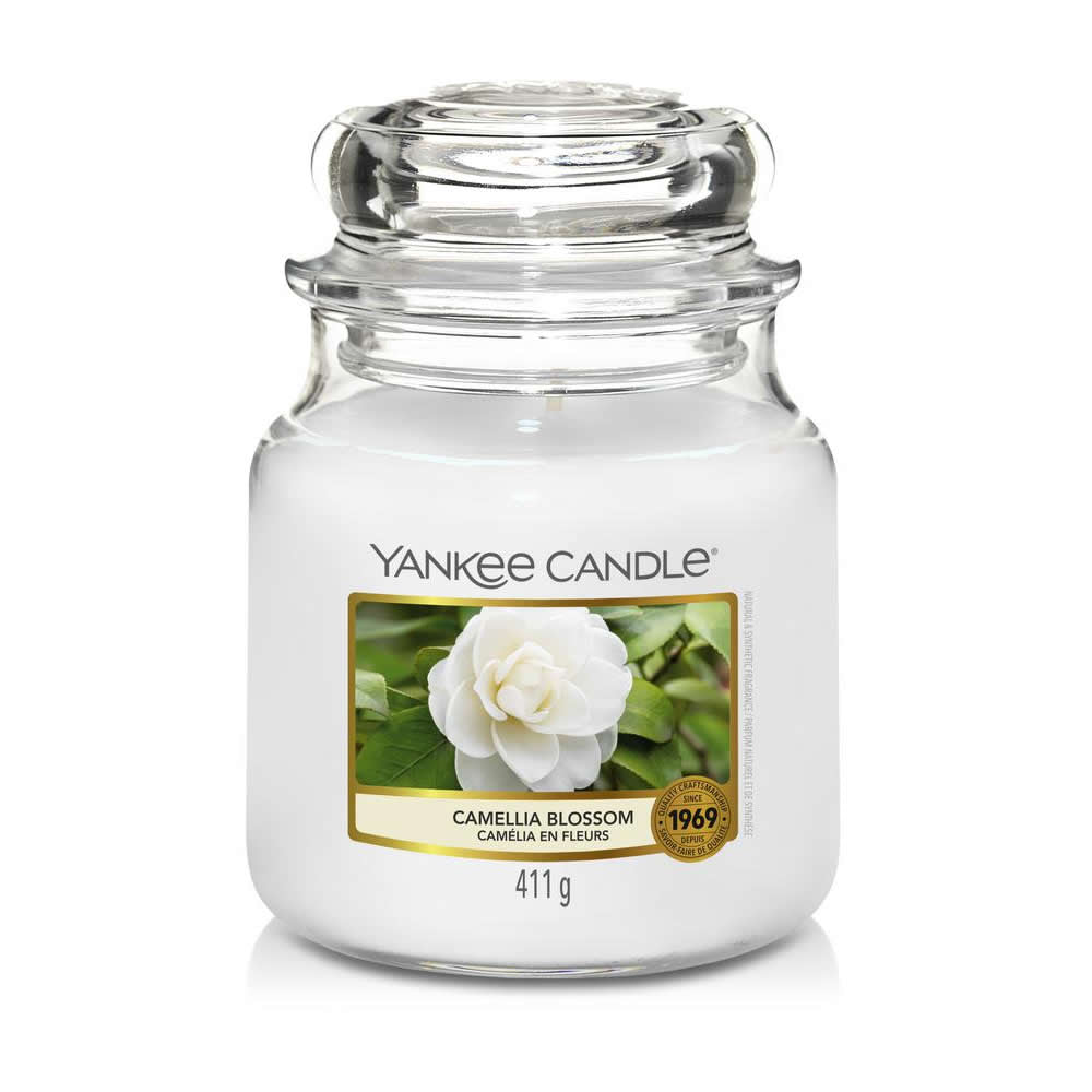 Yankee Candle Camellia Blossom Medium Jar - TOSYS Candles and Gifts