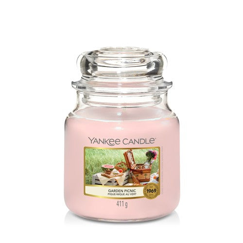 Yankee Candle Garden Picnic Medium Jar - TOSYS Candles and Gifts