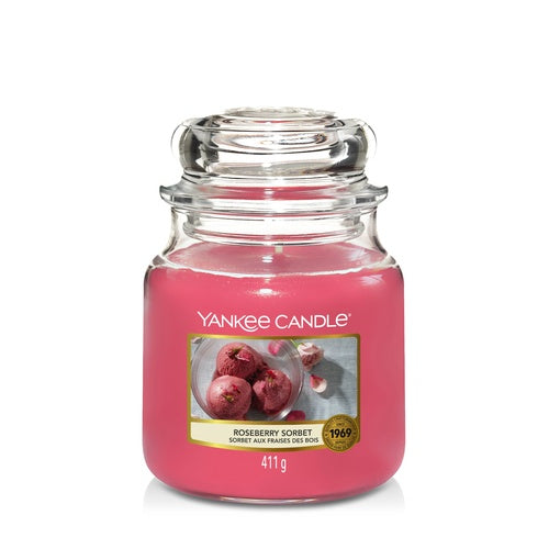 Yankee Candle Roseberry Sorbet Medium Jar - TOSYS Candles and Gifts