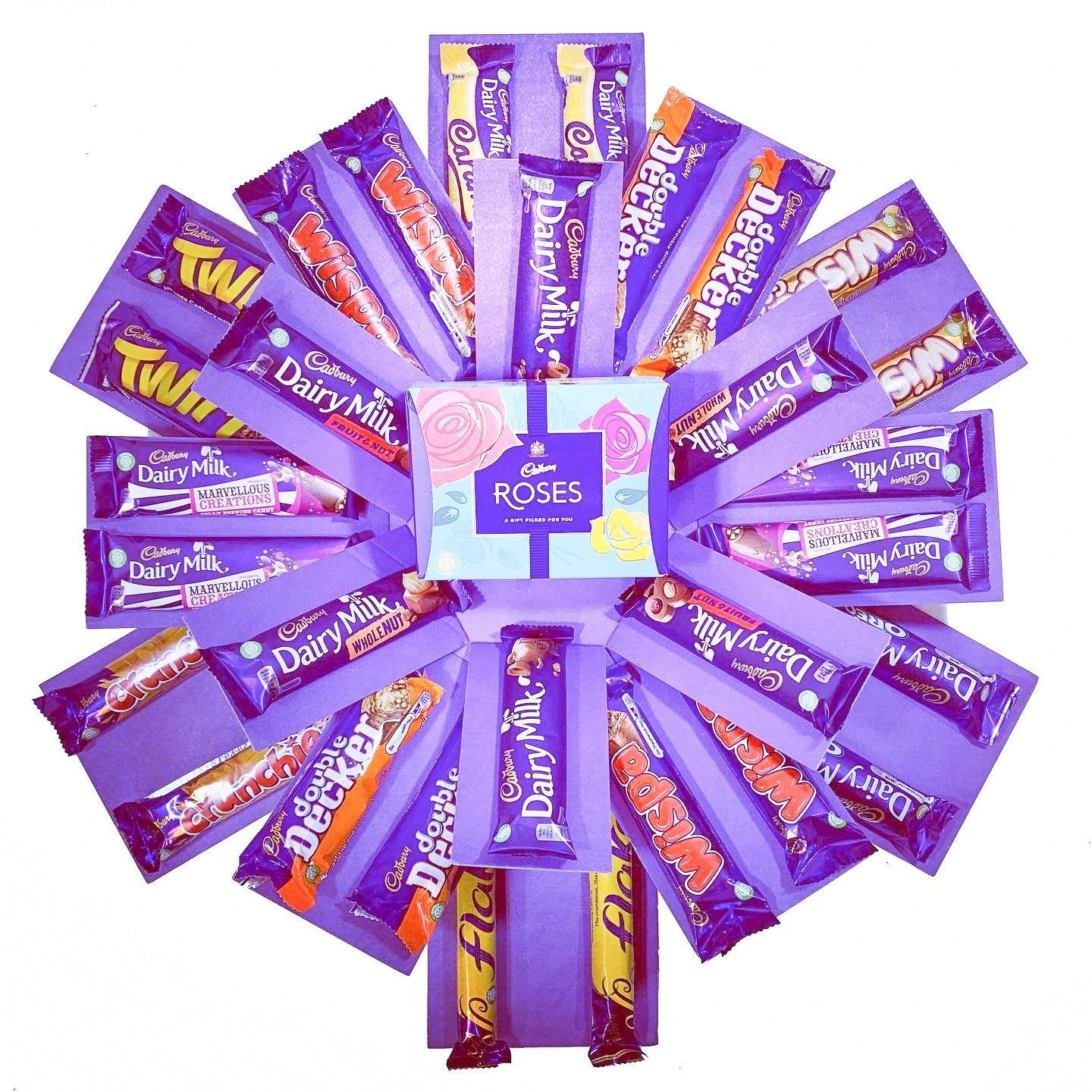The Cadbury Chocolate Explosion Reveal Gift Hamper Box - TOSYS Candles and Gifts