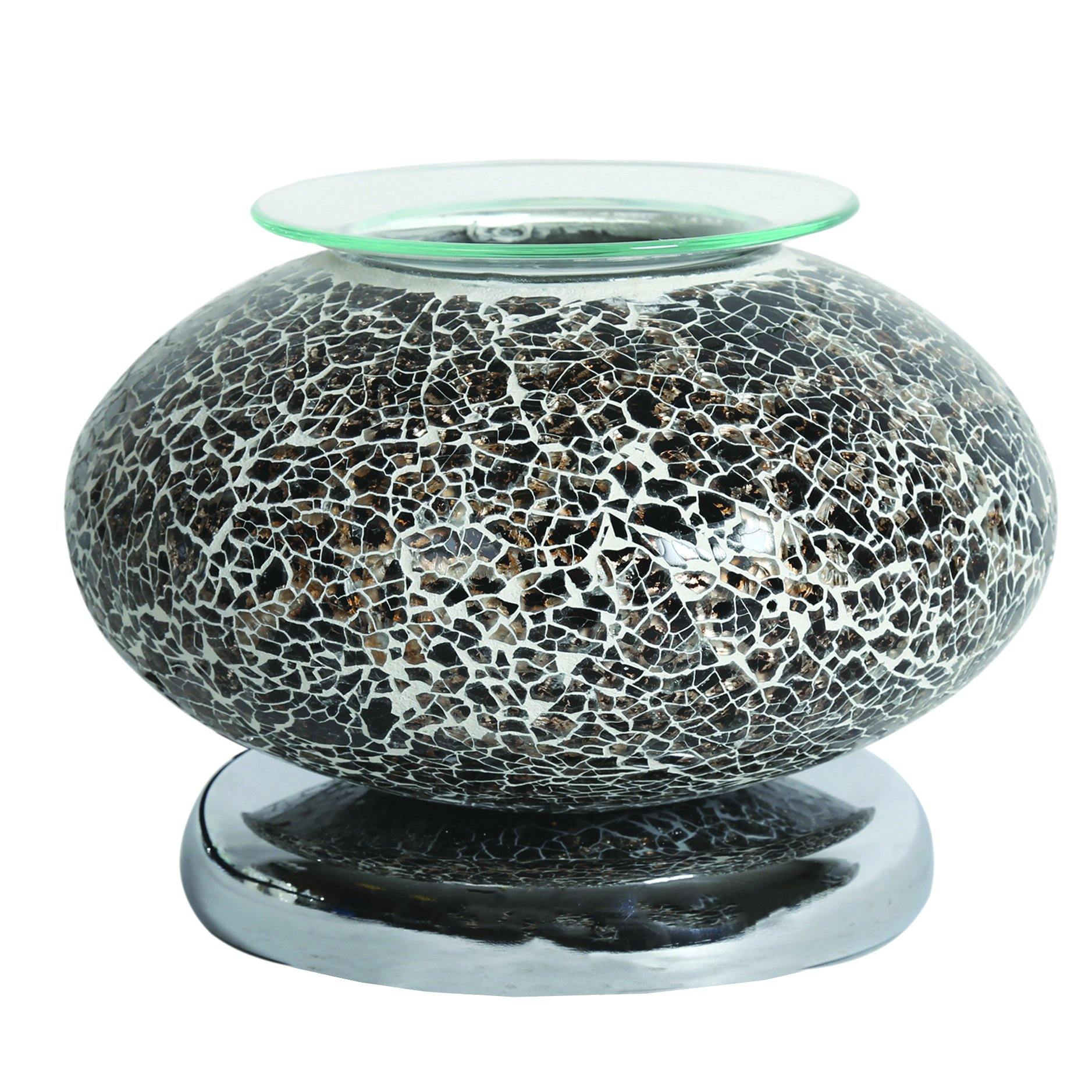 Aroma Accessories Electric Wax Melt Burner Touch - Black Mosaic Ellipse - TOSYS Candles and Gifts