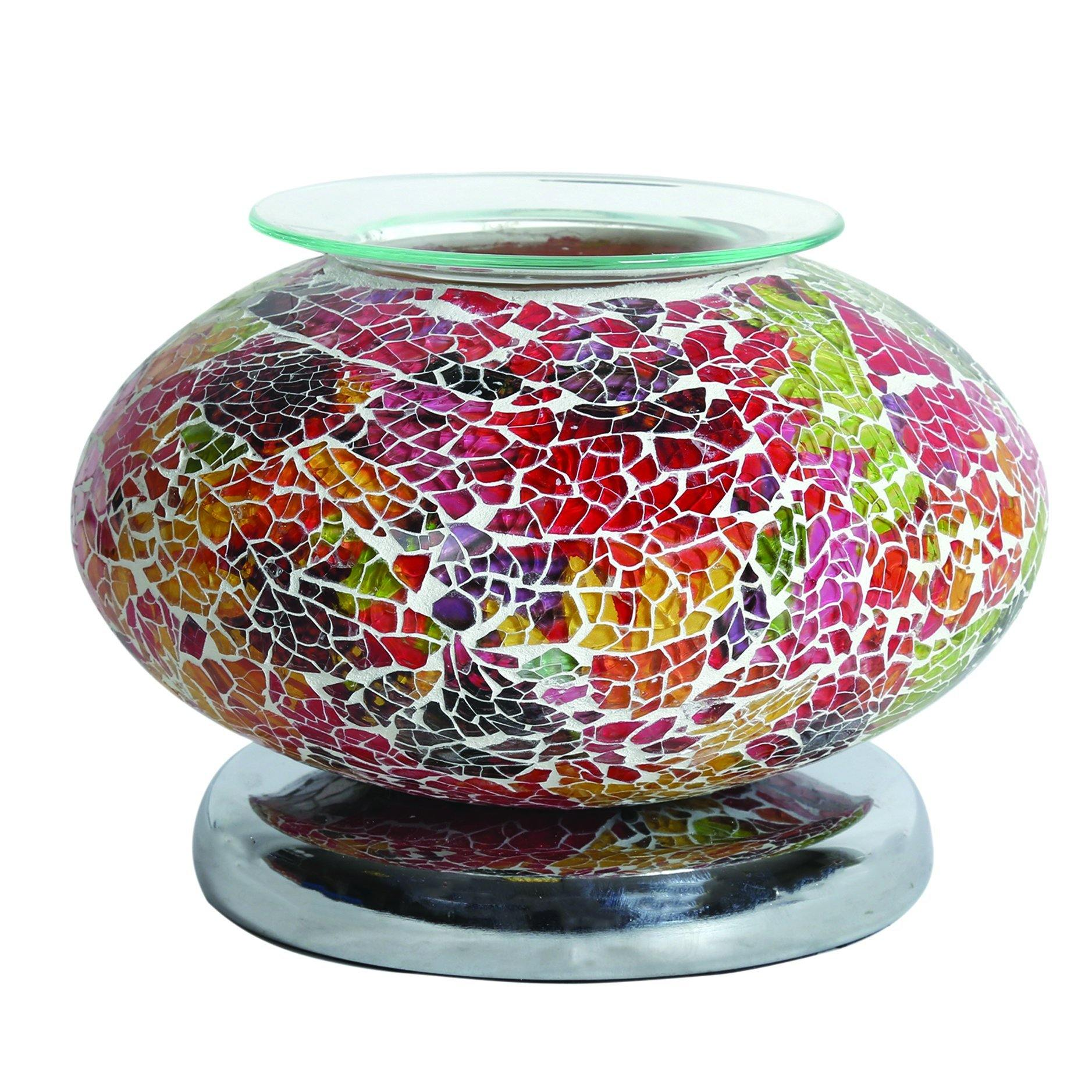 Aroma Accessories Electric Wax Melt Burner Touch - Red Mosaic Ellipse - TOSYS Candles and Gifts