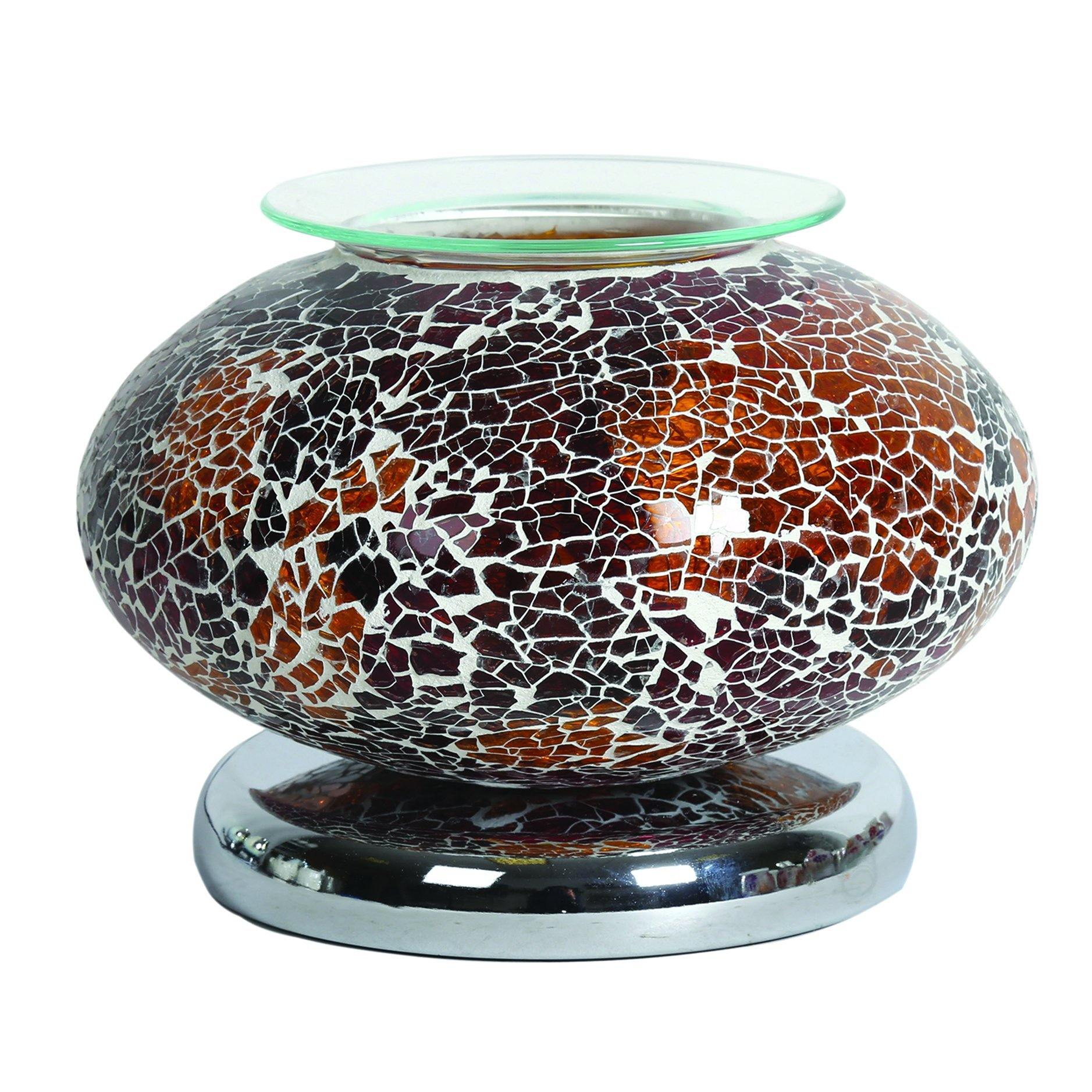 Aroma Accessories Electric Wax Melt Burner Touch - Natural Mosaic Ellipse - TOSYS Candles and Gifts