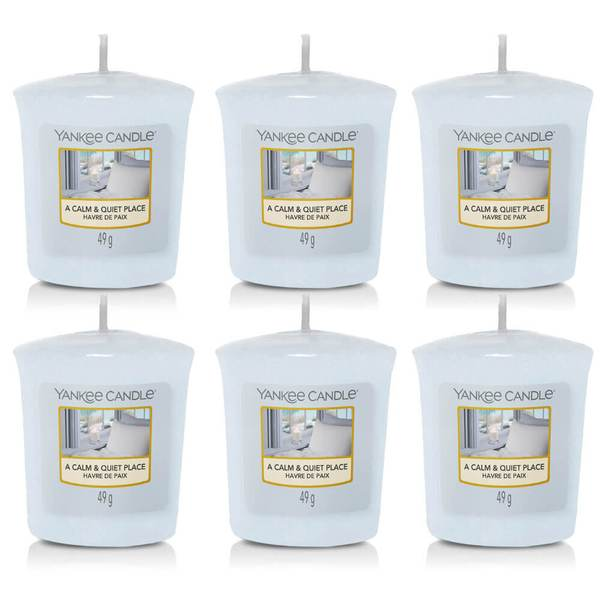 6 Pack Yankee Candle A Calm & Quiet Place Sampler Votives - TOSYS Candles and Gifts
