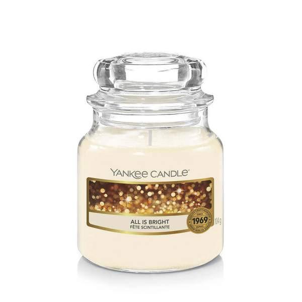 Yankee Candle All is Bright Small Jar - TOSYS Candles and Gifts