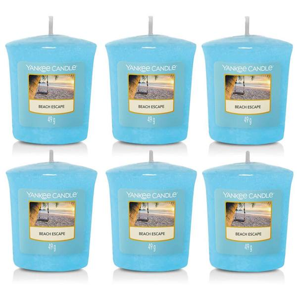 6 Pack Yankee Candle Beach Escape Votive Candles - TOSYS Candles and Gifts