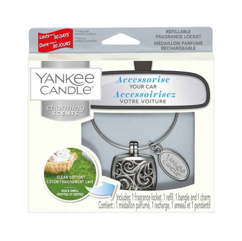 Yankee Candle Charming Scents Square Starter Kit Clean Cotton - TOSYS Candles and Gifts