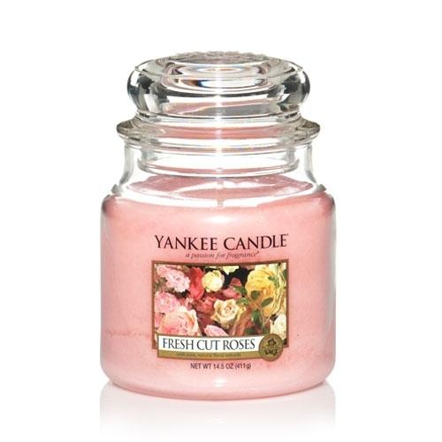 Yankee Candle Fresh Cut Roses Medium Jar - TOSYS Candles and Gifts