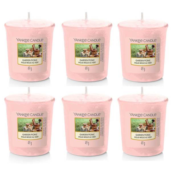 6 Pack Yankee Candle Garden Picnic Votive Candles - TOSYS Candles and Gifts