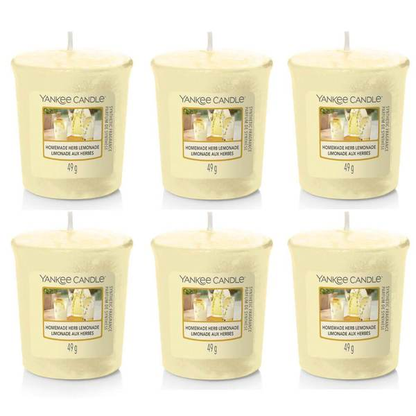 Yankee Candle 6 Pack Homemade Herb Lemonade Votive Candles