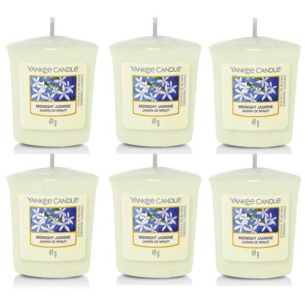 6 Pack Yankee Candle Midnight Jasmine Sampler Votives - TOSYS Candles and Gifts
