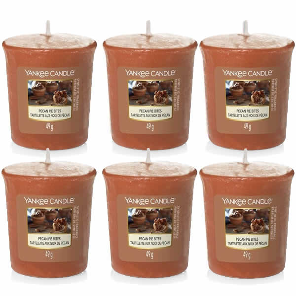 6 Pack Yankee Candle Pecan Pie Bites Votive Candles - TOSYS Candles and Gifts