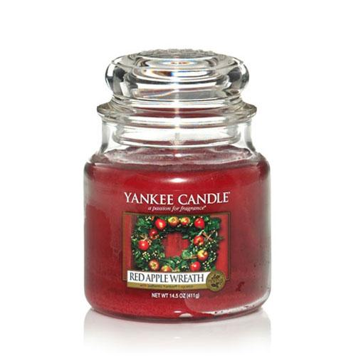 Yankee Candle Red Apple Wreath Medium Jar - TOSYS Candles and Gifts