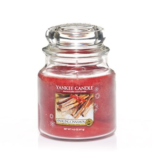 Yankee Candle Sparkling Cinnamon Medium Jar - TOSYS Candles and Gifts