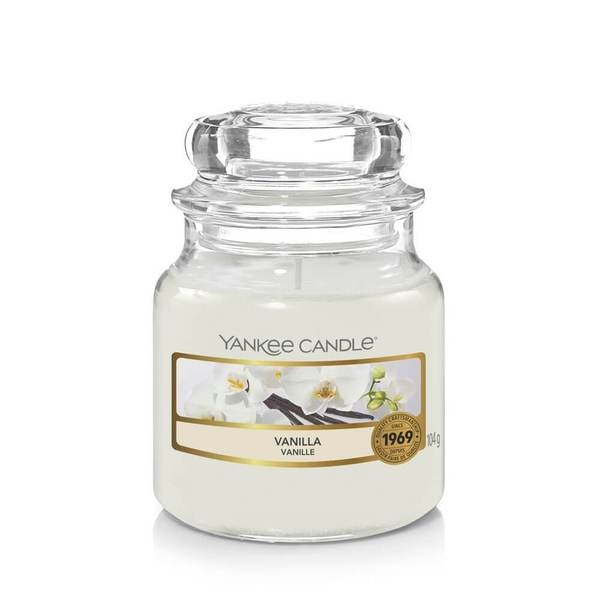 Yankee Candle Vanilla Small Jar - TOSYS Candles and Gifts