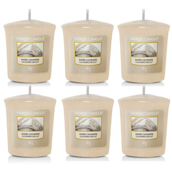 6 Pack Yankee Candle Warm Cashmere Sampler Votives - TOSYS Candles and Gifts