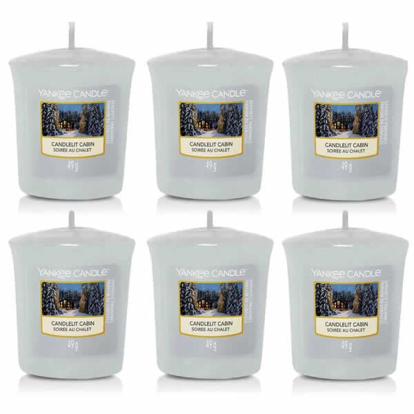 6 Pack Yankee Candle Candlelit Cabin Votive Candles - TOSYS Candles and Gifts