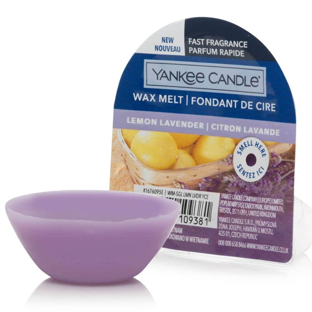 6 Pack Yankee Candle NEW Lemon Lavender Wax Melts - TOSYS Candles and Gifts