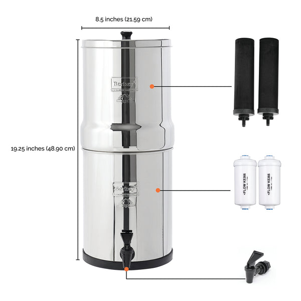 Big Berkey® System with Measurements